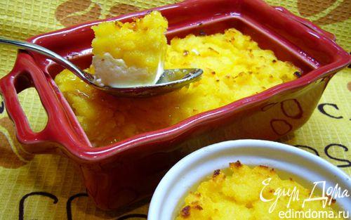 Рецепт Манная запеканка на апельсиновом соке с творогом