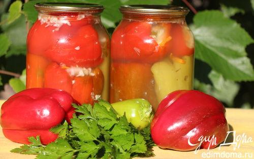 Рецепт Перец, фаршированный капустой (заготовка)