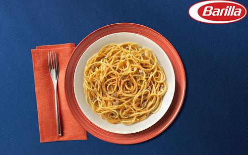 Рецепт Спагетти с анчоусами и хлебными крошками