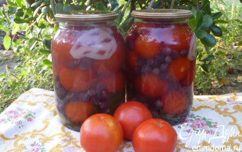 Рецепт Помидоры с виноградом и сладким перцем