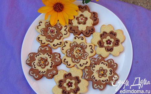 """Рецепт Сливочно-шоколадное печенье """"Прощай, лето!"""""""