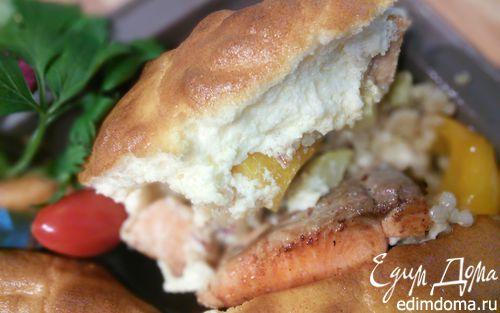 Рецепт Рагу из лосося с перловкой под сырным суфле