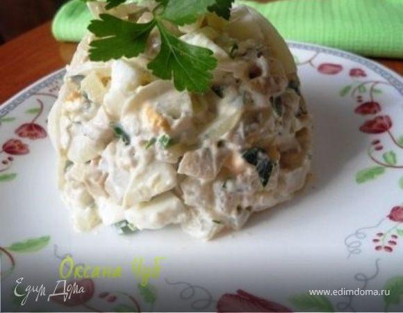Салат с солеными груздями