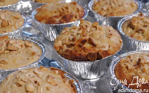 Рецепт Яблочные маффины на кефире с орехами и отрубями