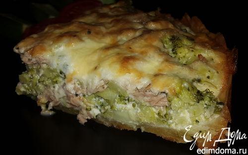 Рецепт Киш с брокколи, тунцом и сыром