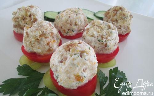 Рецепт Творожно-овощные колобки с орехами