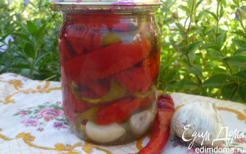 Рецепт Маринованный горький перец