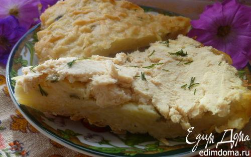 Рецепт Картофельный пирог с мясным паштетом