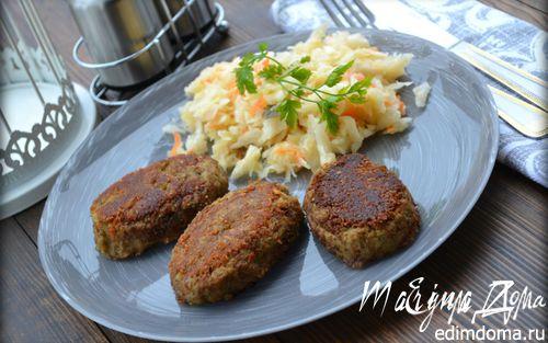 Рецепт Чечевичные котлеты с квашеной капустой