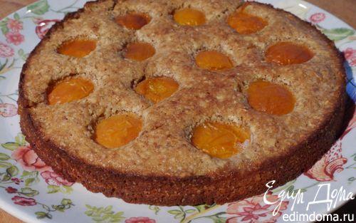 Рецепт Миндальная коврижка с абрикосами