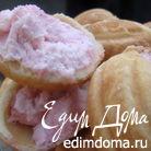 """Печенье """"Орешки"""", фаршированные малиновым чизкейком"""