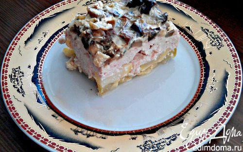 Рецепт Куриная запеканка с грибами и кабачками