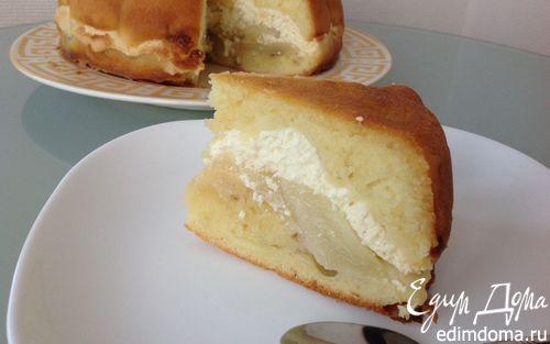 Рецепт Пирог с творогом и грушами