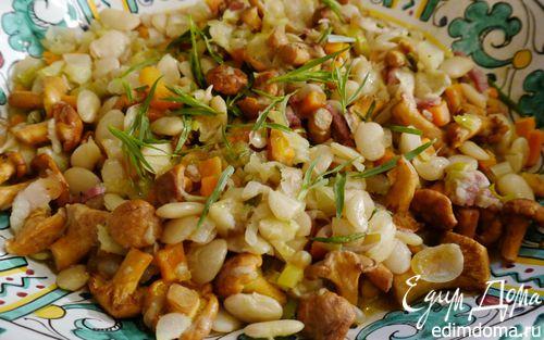 Рецепт Фасоль с грибами и шалфеем