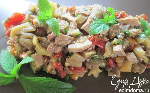 Рецепт Салат из запеченных овощей и утки
