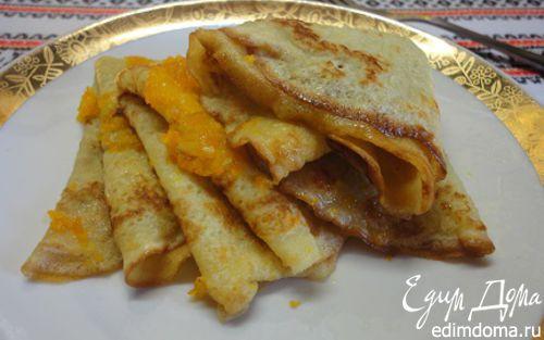 Рецепт Блинчики в апельсиновой карамели