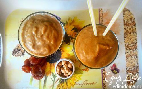 Рецепт Смузи с бананами и курагой
