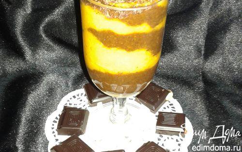 Рецепт Яркий тыквенно-шоколадный смузи