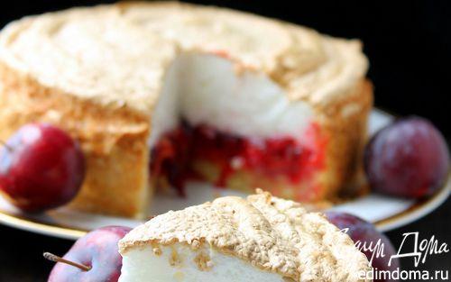 Рецепт Сливовый пирог с безе
