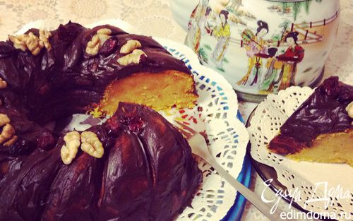 Рецепт Пряный тыквенно-апельсиновый кекс (ленивый)