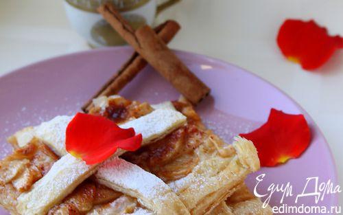 Рецепт Слоеный пирог с яблоками и корицей