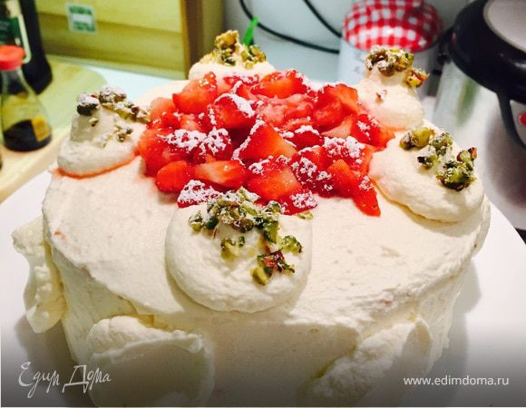 "Классический торт ""Клубника со сливками"""