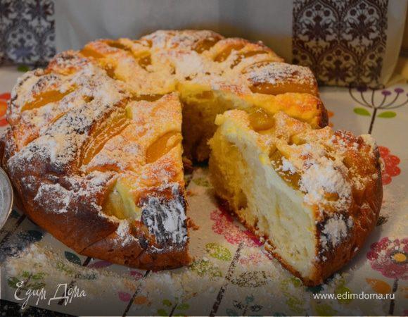 """Домашний пирог """"Творожно-персиковое блаженство"""""""