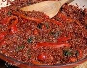 Паэлья из красного риса