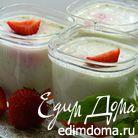 Йогурт с базиликом и клубникой