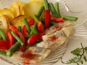 Селедочный салат с постной заправкой