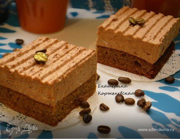 Шоколадно-муссовое пирожное