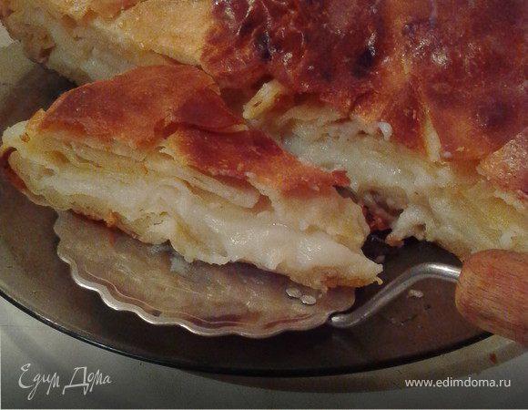 Пирог с заварным кремом на слоеном экспресс-тесте