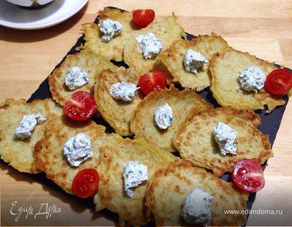 Латкес (картофельные оладьи)