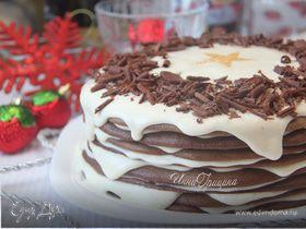 Шоколадно-сливочный «Наполеон»