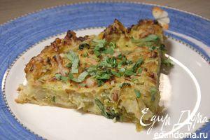 Запеканка из картофеля и брюссельской капусты