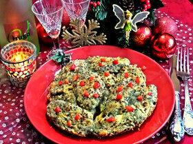 Творожные ньокки со шпинатом, запечённые под сыром