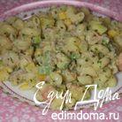 Паста с тунцом, авокадо и сладким перцем