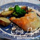 Курица в духовке с овощным гарниром