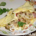 Пряный рис с яйцом и беконом