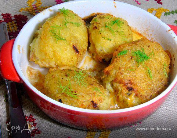 Фаршированные грудки в картофельной шубе