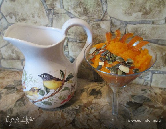 Гоголь-моголь (пудинг, коктейль) из перловки и тыквы