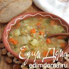 Суп с пшеничной крупой и чечевицей (постный)
