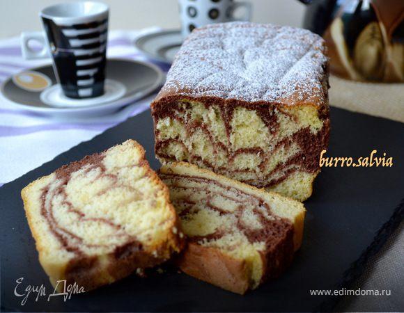 «Мраморный» бисквит