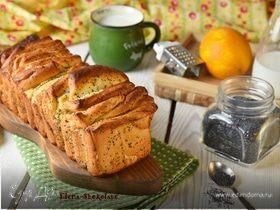Сладкий хлеб-гармошка со сливочным сыром и маком