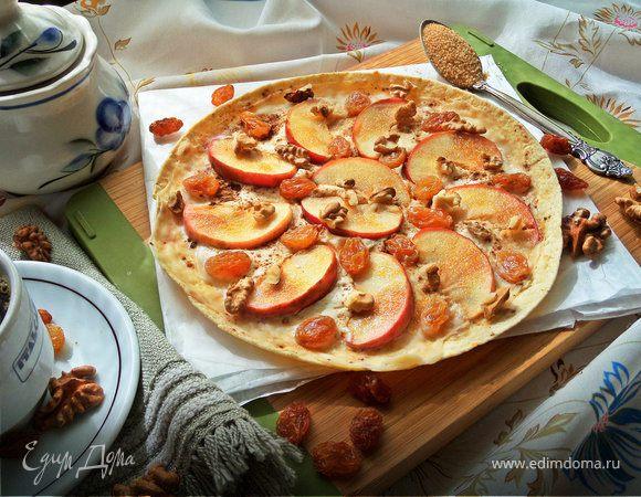 Яблочная «пицца»