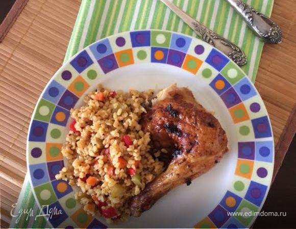 Булгур с овощами и курицей