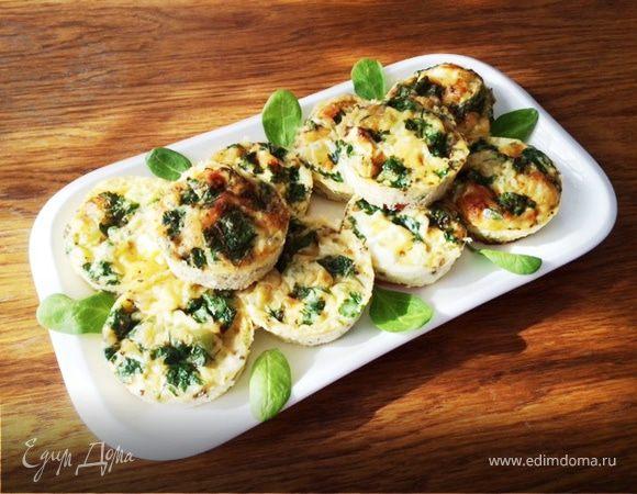 Омлет с грибами (порционная подача)