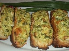 Багет с кабачково-сырной начинкой