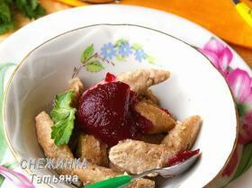 Ленивые вареники «лайт» с ягодным киселем