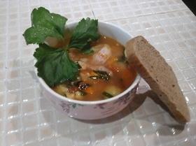 Суп из индейки с полбой